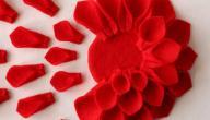 طريقة صنع وردة من الورق