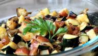 طريقة سلطة الباذنجان و البطاطس