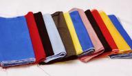 أنواع القماش للخياطة
