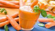 طريقة عمل عصير البرتقال والجزر