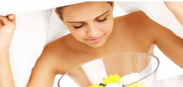 فوائد تنظيف الوجه بالبخار