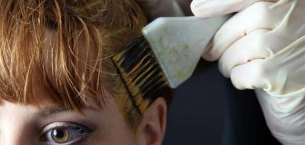 أضرار صبغة الشعر