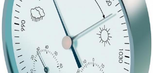 العلاقة بين الحرارة والضغط الجوي