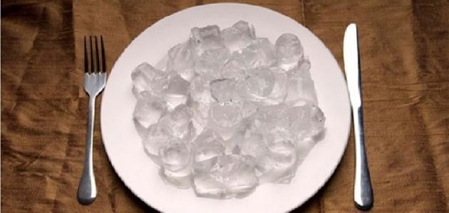 أضرار أكل الثلج على الصحة