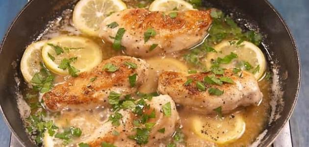 طريقة عمل دجاج بالثوم و الليمون