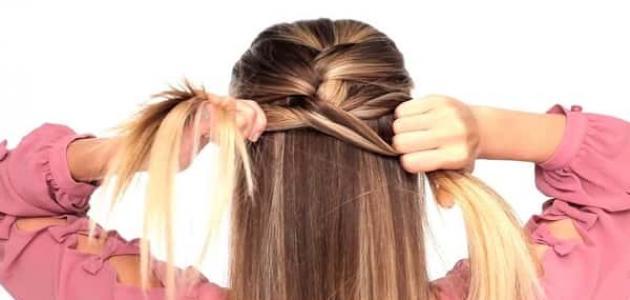 طريقة عمل ضفيرة الشعر