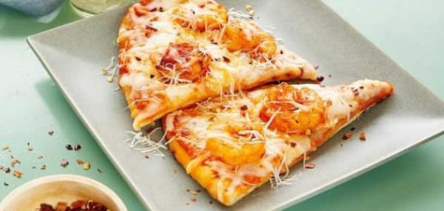 طريقة عمل بيتزا بالجمبري