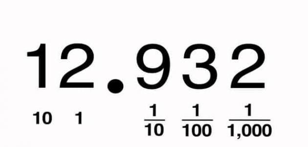 معلومات عن الأعداد العشرية