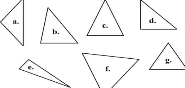 أنواع المثلثات