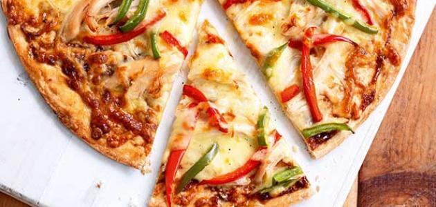 طريقة عمل البيتزا بالدجاج