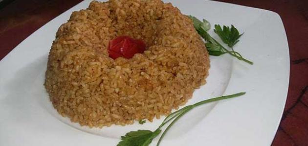 طريقة عمل الأرز الأحمر للسمك
