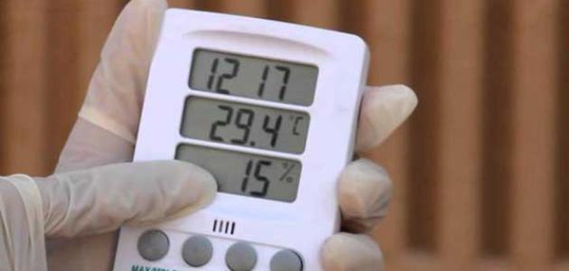 كيفية حساب الرطوبة النسبية