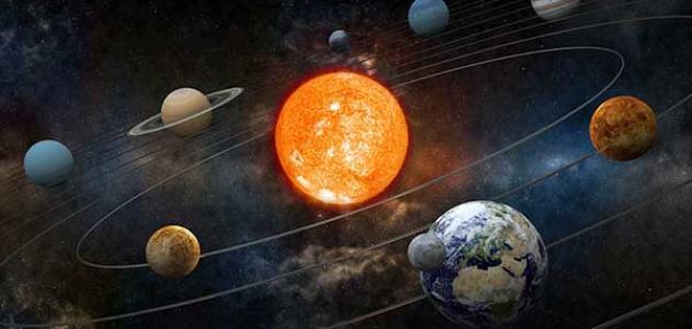 كواكب المجموعة الشمسية بالترتيب حسب الحجم
