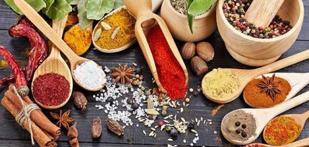 أنواع البهارات الهندية