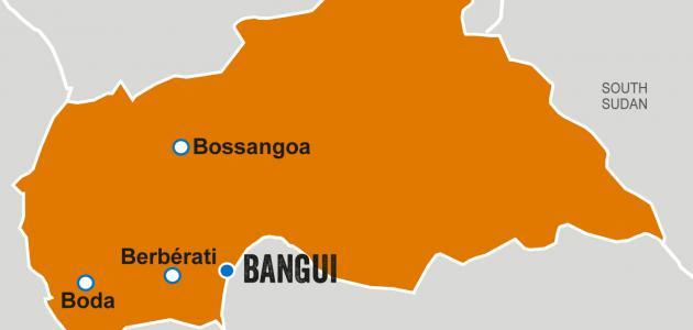جغرافية جمهورية أفريقيا الوسطى