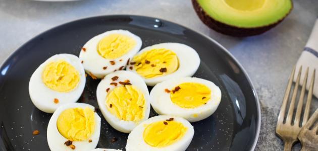 السعرات الحرارية في البيض المسلوق