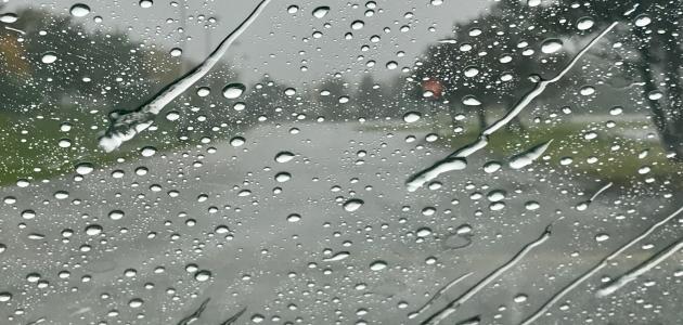 مقال وصفي عن المطر