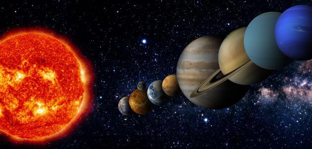 بحث عن المجموعة الشمسية